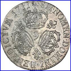 Louis XIV Ecu aux trois couronnes 1711 Rennes Superbe exemplaire