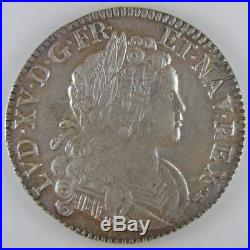 Louis XIV, Ecu de France-Navarre 1718 Besançon, Gadoury 318, TTB+/SUP Royales Fr
