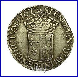 Louis XIV Ecu de Navarre à la cravate Saint Palais Très bel exemplaire rarissime