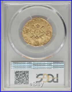 Louis XIV Louis d'or à l'écu PCGS AU58 1696 T Nantes