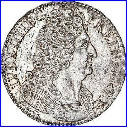 Louis XIV Splendide Demi-ecu aux 3 couronnes 1710 Paris rare Qualité