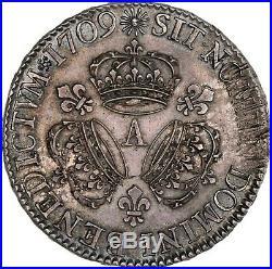 Louis XIV Splendide Ecu aux 3 couronnes 1709 Paris Rare Qualité