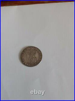 Louis XIV argent douzième d'écu mèche longue 1657 D (Lyon) R4
