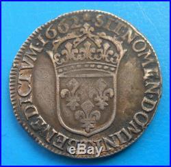 Louis XIV demi 1/2 écu au buste juvénile 1662 T NANTES