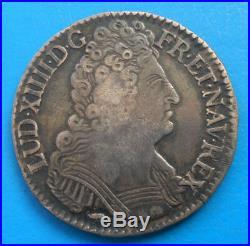 Louis XIV demi 1/2 écu aux 3 couronnes 1709 P DIJON