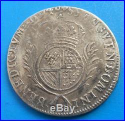 Louis XIV demi 1/2 écu de Flandre carambole aux palmes 1694 W LILLE