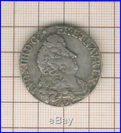 Louis XIV demi écu aux 8 L 1691 L couronné = Lille