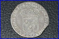 Louis XIV demi ecu pour l'artois 1652 Arras