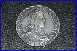 Louis XIV ecu a la meche longue 1651A etoile
