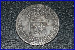 Louis XIV ecu a la meche longue 1652 A