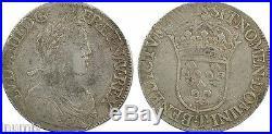 Louis XIV, écu à la mèche longue, 1652, Nantes, argent 59