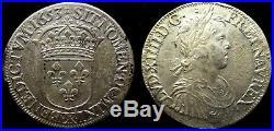 Louis XIV ecu a la meche longue 1653X sup argent 27,10grammes reflets dorés