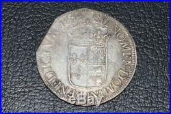 Louis XIV ecu a la meche longue du Bearn 1654 F