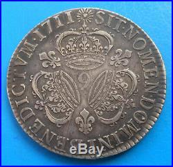 Louis XIV écu aux 3 couronnes 1711 9 RENNES