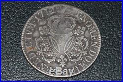 Louis XIV ecu aux 3 couronnes 1712 Rennes