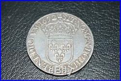 Louis XIV ecu juvenile 1672 A
