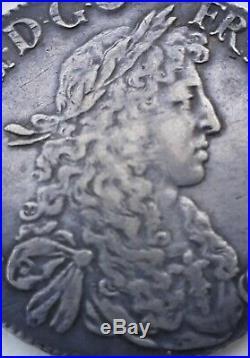 Louis XIV le Grand (1643-1715)- Ecu au buste juvénile du Béarn 1669 Pau -TTB+