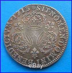 Louis XIV quart 1/4 d'écu aux 3 couronnes 1713 X AMIENS