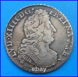 Louis XIV quart 1/4 d'écu aux insignes 1702 N MONTPELLIER