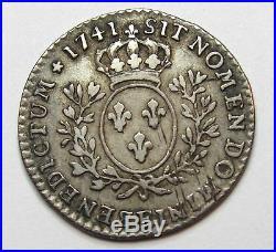 - Louis XV 1/10 d'écu au bandeau 1741 E Tours