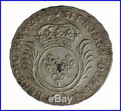 Monnaie, France, 1/2 Ecu aux palmes, Louis XIV, Argent, 1694, Tours (E), P12852