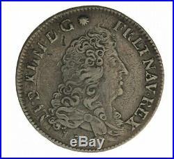 Monnaie, France, 1/4 Ecu aux 8 L 1er type, Louis XIV, Argent, 1691, Tours (E), P