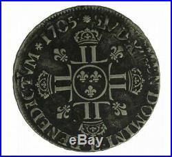 Monnaie, France, 1/4 Ecu aux 8 L 2ème type, Louis XIV, Argent, 1705, Tours (E)