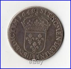 Monnaie Royale R4 Demi Ecu A La Meche Longue De Louis XIV 1649 L @ Bayonne Top