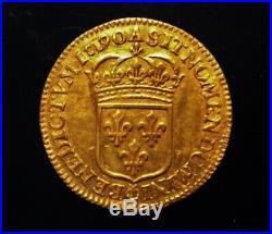 Monnaie royale LOUIS XIV écu OR 1690
