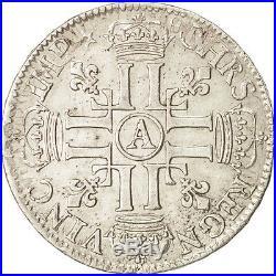 Monnaies, France, Louis XIV, 1/2 Écu aux 8 L, 1690, Paris, TTB #79364