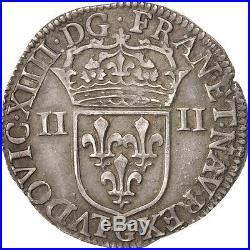 Monnaies, France, Louis XIV, 1/4 Écu, 1645, Poitiers, Argent, KM142.6 #49729