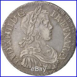 Monnaies, France, Louis XIV, Écu à la mèche longue, 1649, Bordeaux #49728