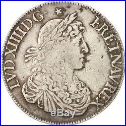 Monnaies, France, Louis XIV, Écu au buste #79363