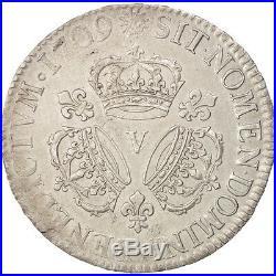 Monnaies, France, Louis XIV, Écu aux 3 couronnes, 1709, Troyes, SUP #19023