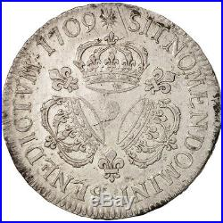 Monnaies, France, Louis XIV, Écu aux 3 couronnes, Ecu, 1709, Rennes #415666