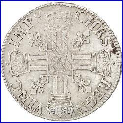 Monnaies, France, Louis XIV, Écu aux 8 L 1692 O (Riom), flan neuf #43261
