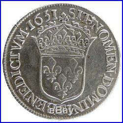 Monnaies, LOUIS XIV, ½ Écu à la mèche longue #20652