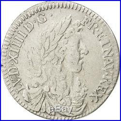 Monnaies, Louis XIV, 1/12 Ecu au buste juvénile 1660 Aix, KM 199.14 #27108