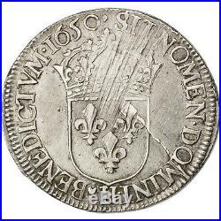Monnaies, Louis XIV, 1/2 Ecu à la mèche longue 1650 La Rochelle, KM #27096