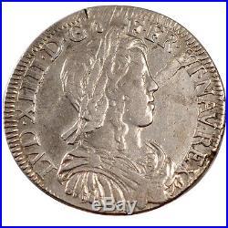 Monnaies, Louis XIV, 1/2 Ecu à la mèche longue #25529