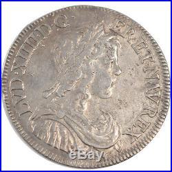 Monnaies, Louis XIV, 1/2 Ecu à la mèche longue #25950