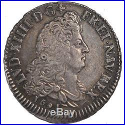 Monnaies, Louis XIV, 1/2 Ecu aux 8 L #57568