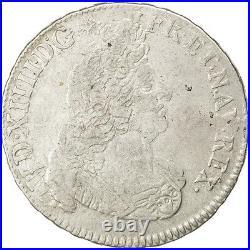 Monnaies, Louis XIV, 1/2 Ecu aux Insignes 1702 Caen, KM 325.4 #27103