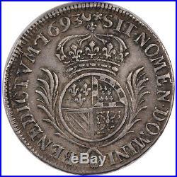 Monnaies, Louis XIV, 1/2 Ecu de Flandre aux palmes #24364