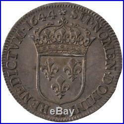 Monnaies, Louis XIV, 1/4 Ecu à la mèche courte #23661