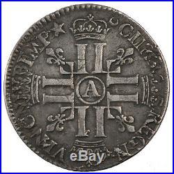 Monnaies, Louis XIV, 1/4 Ecu aux 8 L #23546