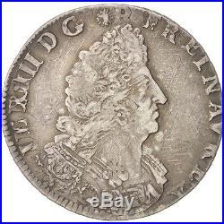 Monnaies, Louis XIV, 1/4 Ecu aux palmes 1694 O (Riom), KM 293.15 #46153