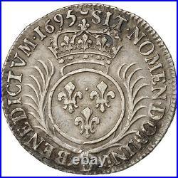Monnaies, Louis XIV, 1/4 Ecu aux palmes 1695 Lyon, KM 293.6 #28088