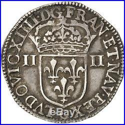 Monnaies, Louis XIV, 1/4 Ecu titulature du côté de l'écu 1645 #27952