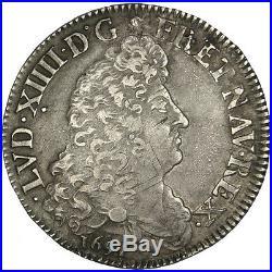 Monnaies, Louis XIV, Demi Écu aux 8 L, 1er type #30550